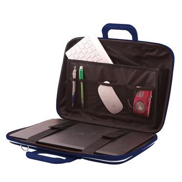 Bombata – Navy Blue Classic 15″ Laptop Case/Bag with Shoulder Strap