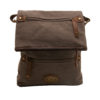 Troop London – Brown Classic Laptop Messenger Bag in Canvas with Leather Trim