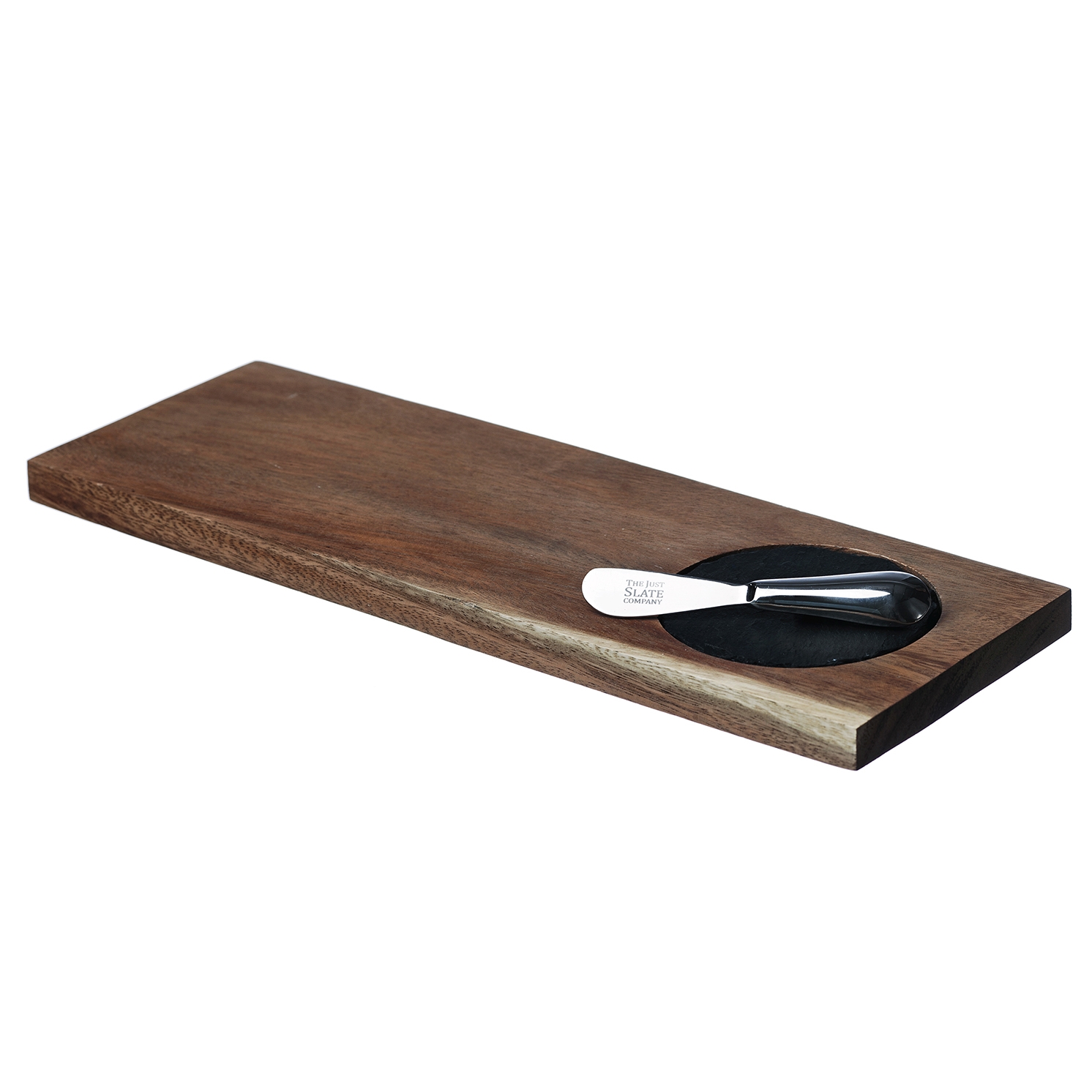 The Just Slate Company – Small Acacia Antipasti Serving Set in Gift Box