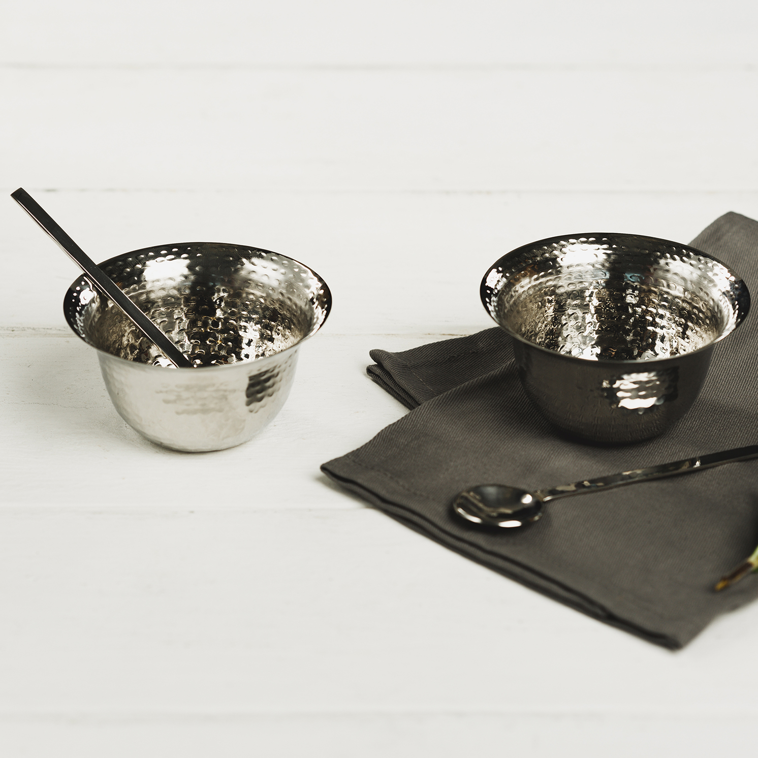 The Just Slate Company – Stainless Steel Condiment Pot Set In Gift Box