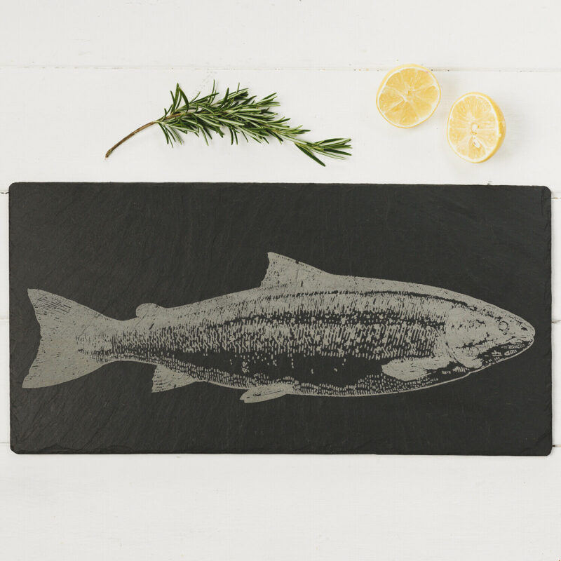 The Just Slate Company – Salmon Engraved Slate Table Runner
