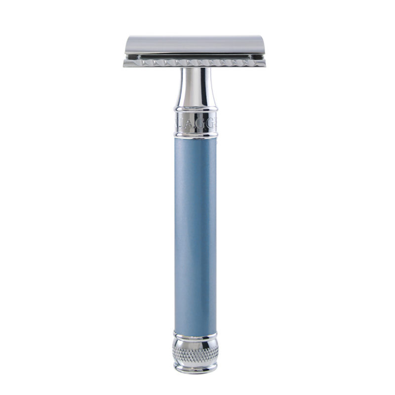 Edwin Jagger – Blue Pearl Effect DE Safety Razor in Gift Box