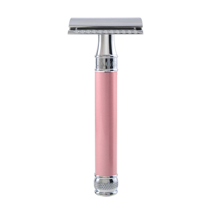 Edwin Jagger – Pink Pearl Effect DE Safety Razor in Gift Box