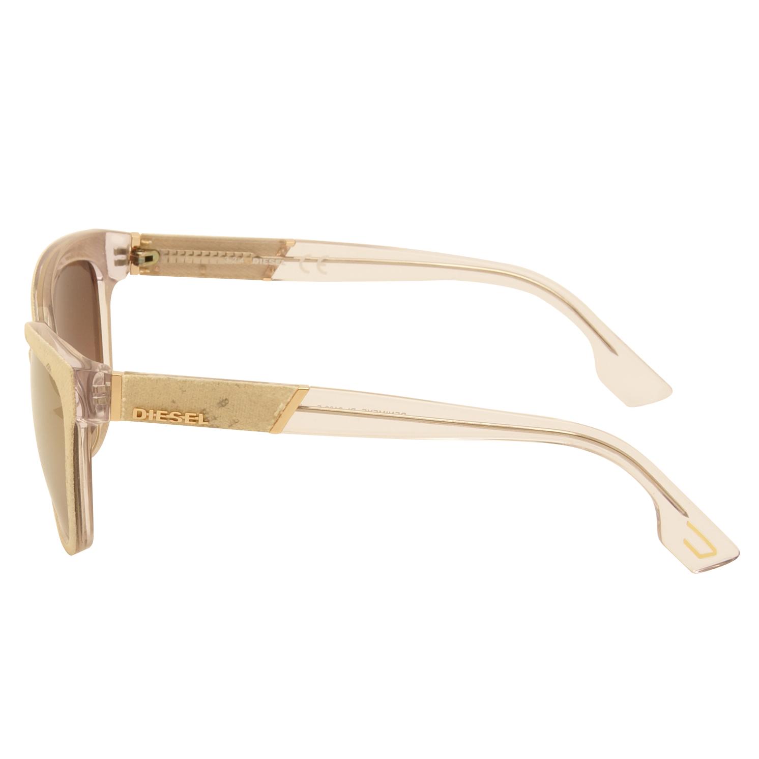 Diesel – Cream Denim Cat Eye Style Sunglasses with Case