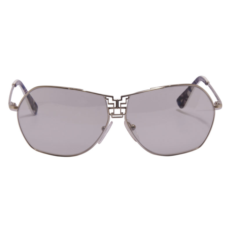 Emilio Pucci – Silver Aviator Sunglasses with Case