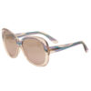 Emilio Pucci – Black and Grey Print Round Oversized Style Sunglasses with Case
