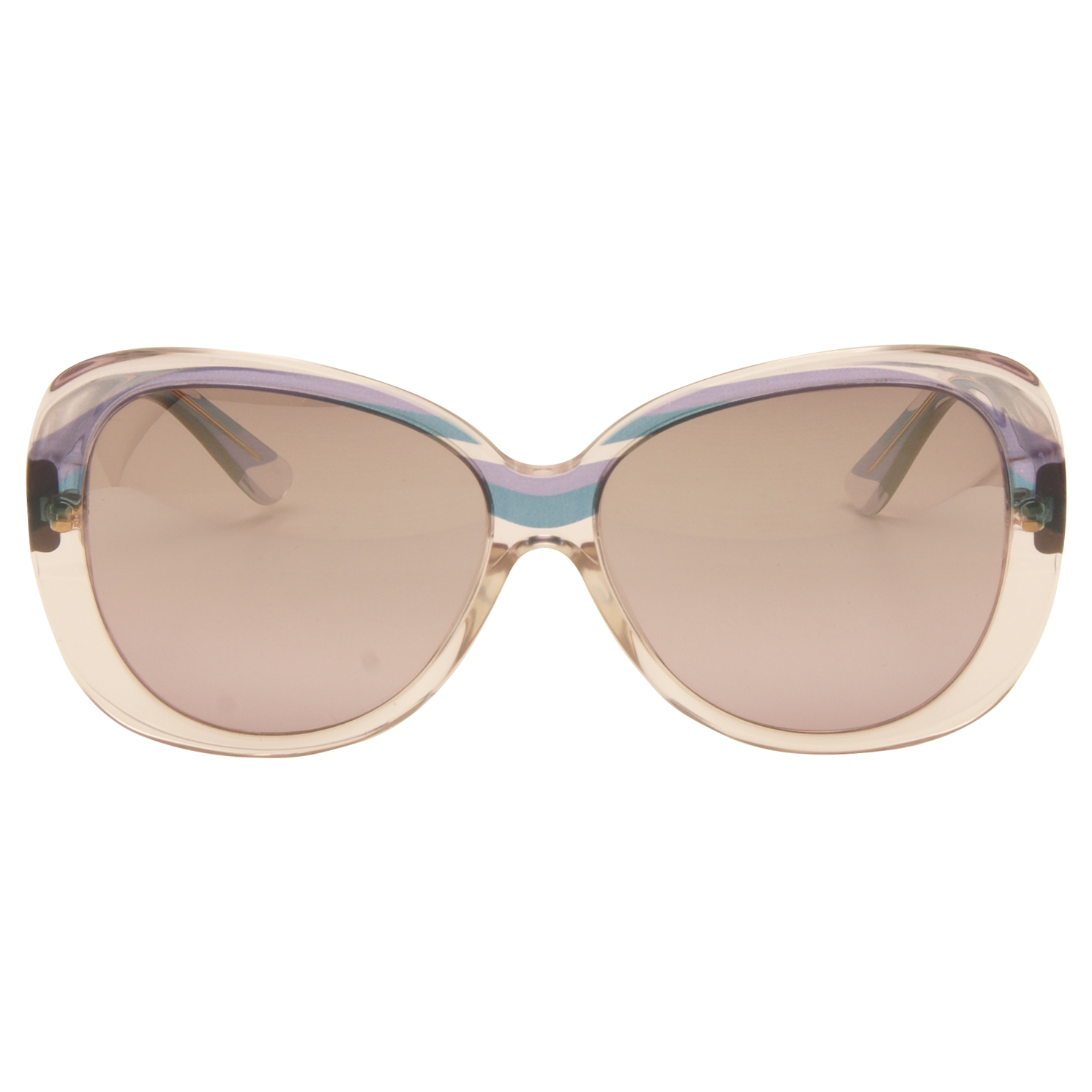 Emilio Pucci – Lilac and Blue Print Clear Oversized Style Sunglasses with Case