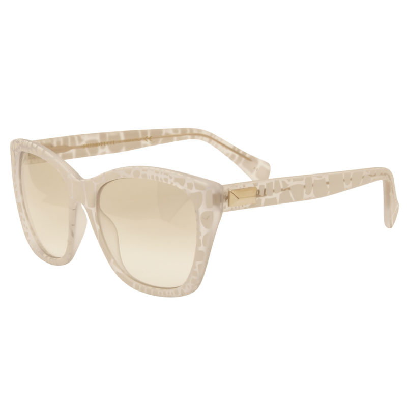 Emilio Pucci – Matt White and Clear Classic Style Sunglasses with Case