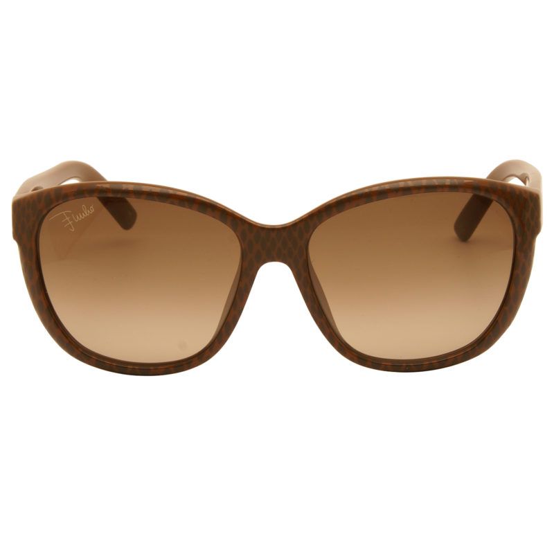 Emilio Pucci – Chocolate Brown Animal Print Classic Style Sunglasses with Case