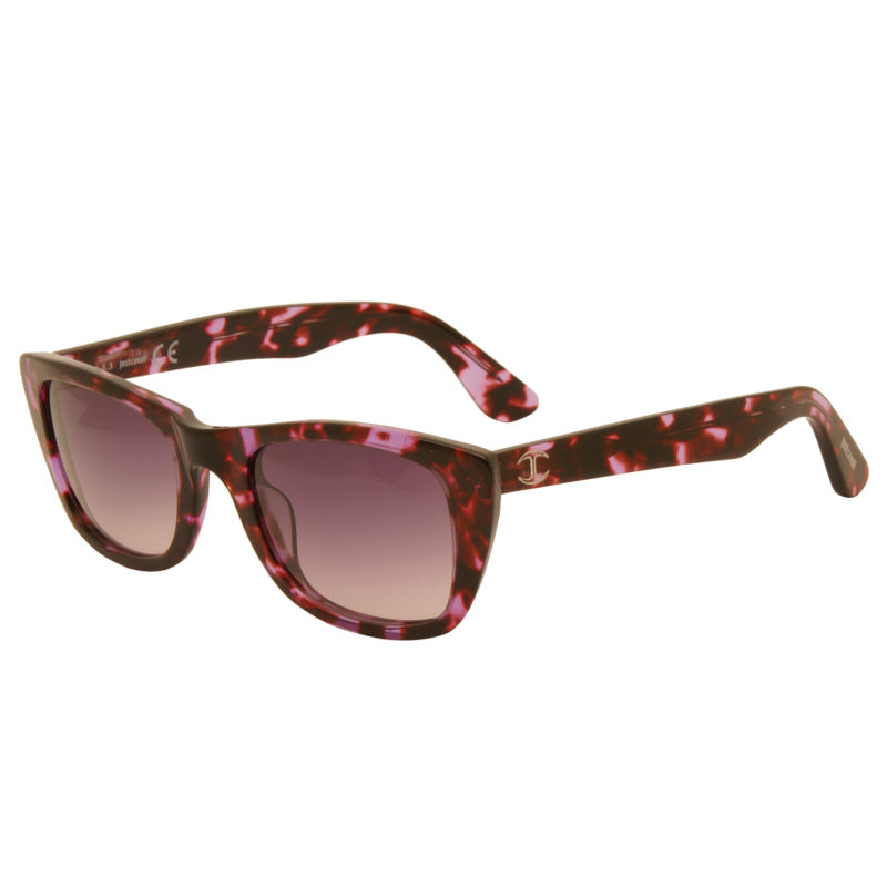 Just Cavalli – Purple Animal Print Cat Eye Style Sunglasses with Case