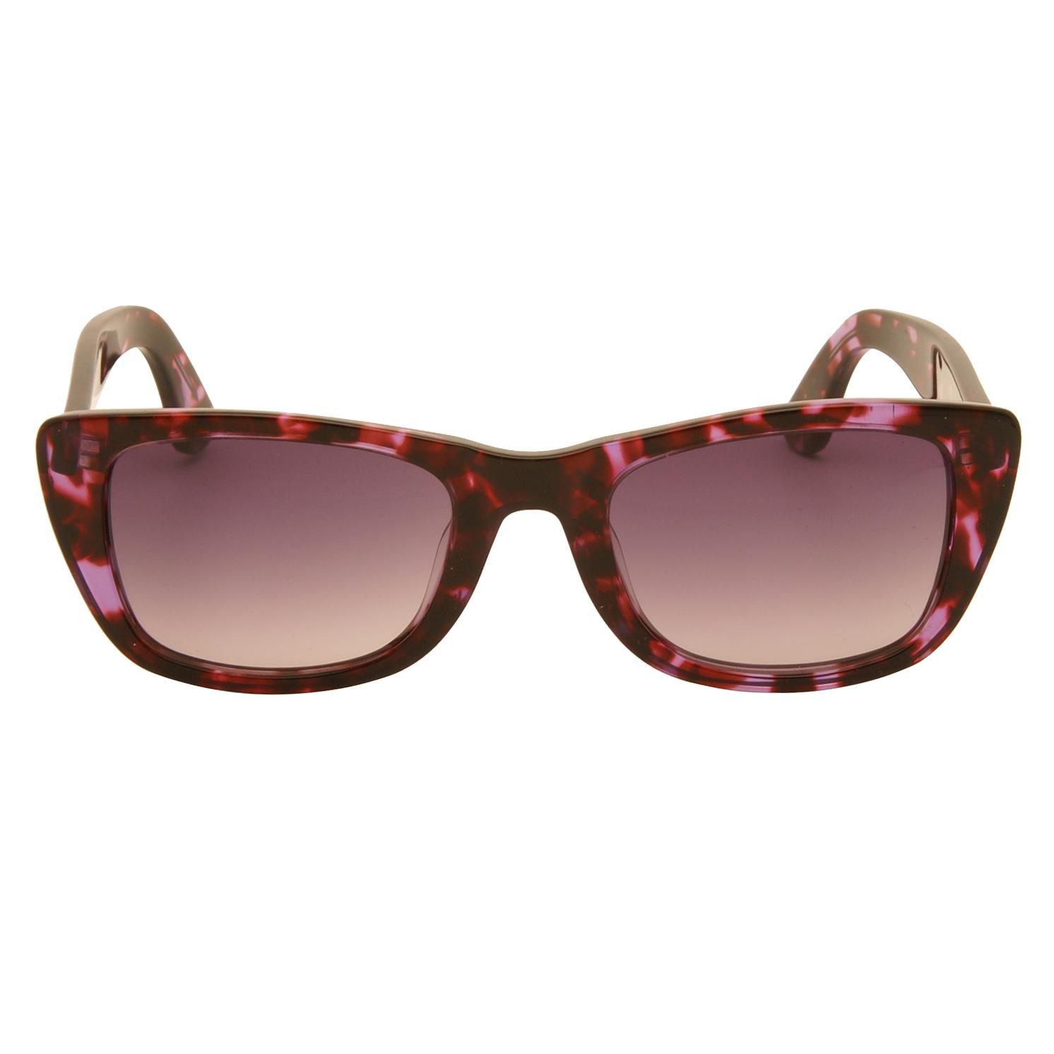 Just Cavalli – Purple Animal Print Cat Eye Style Sunglasses with Case