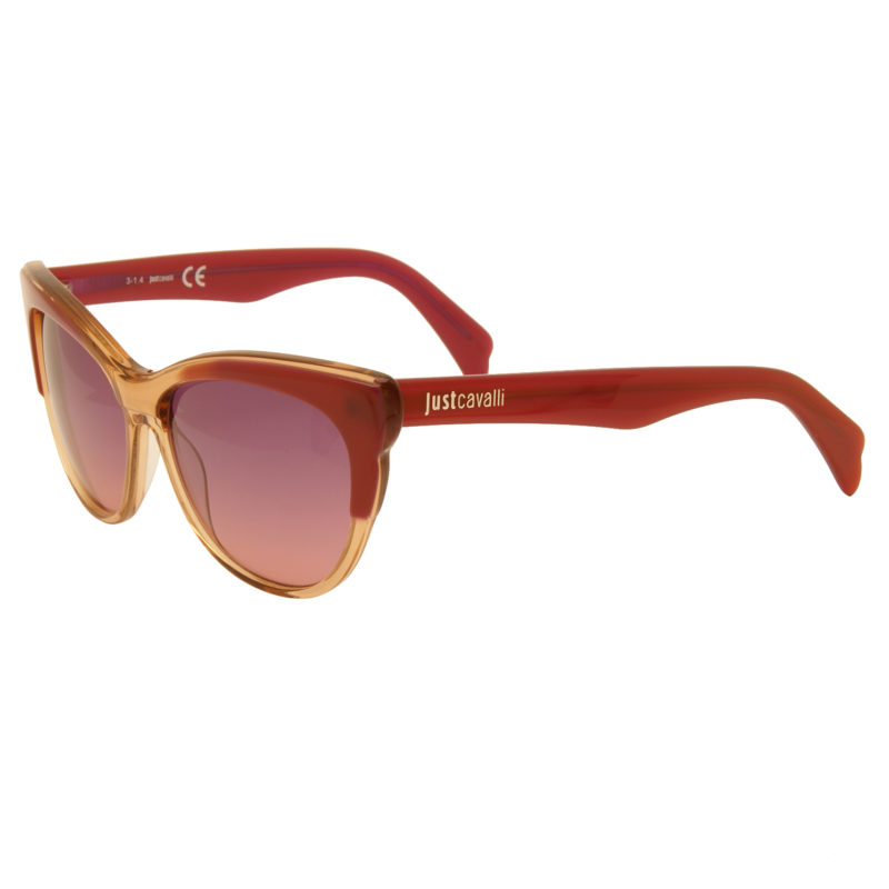 Just Cavalli – Pink and Peach Cat Eye Style Sunglasses with Case