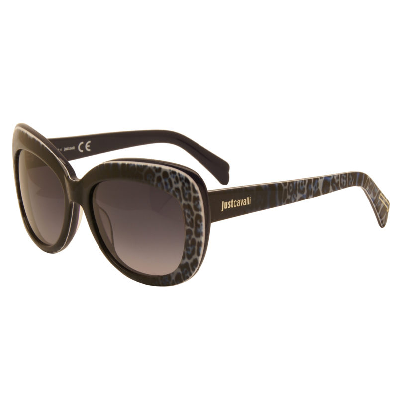 Just Cavalli – Blue Animal Print Cat Eye Style Sunglasses with Case