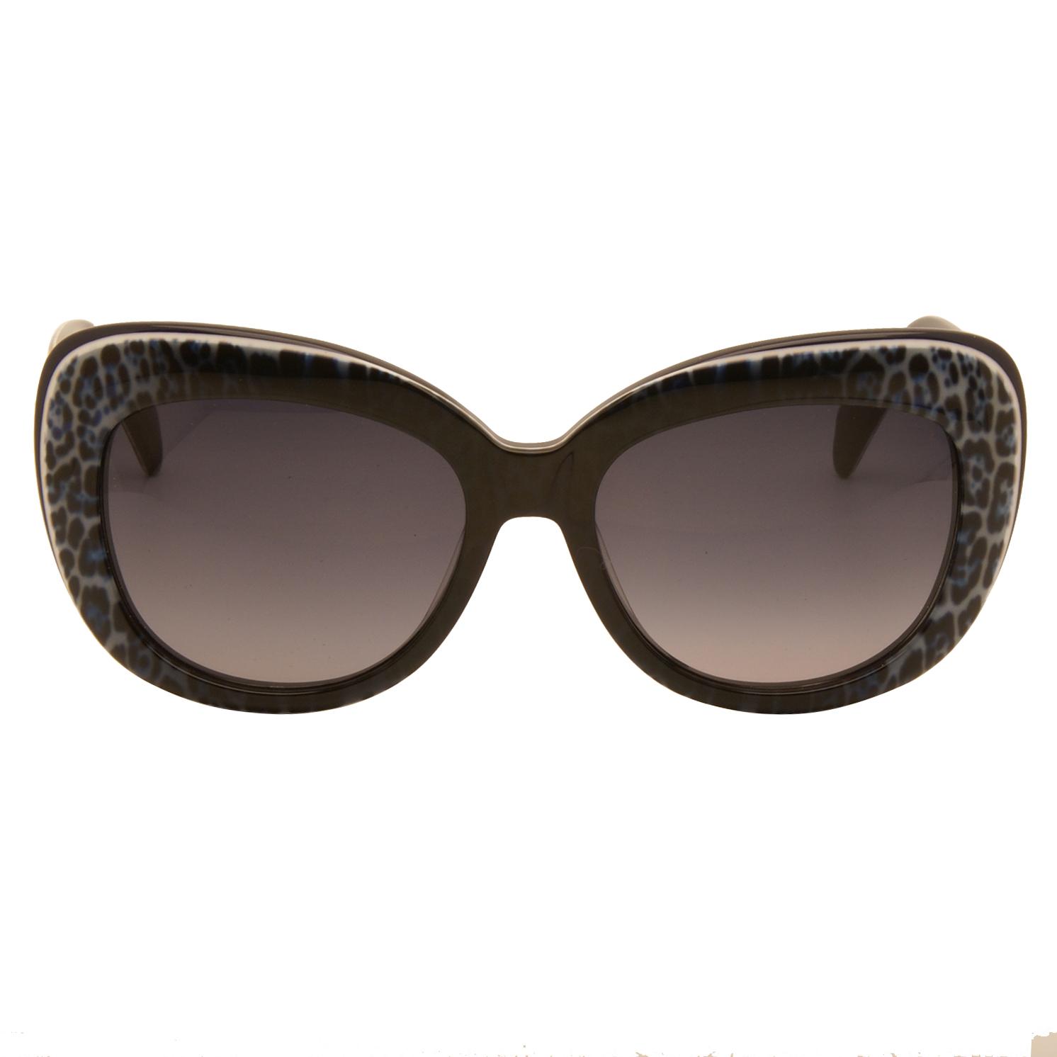 Just Cavalli – Blue Animal Print Cat Eye Style Sunglasses with Case
