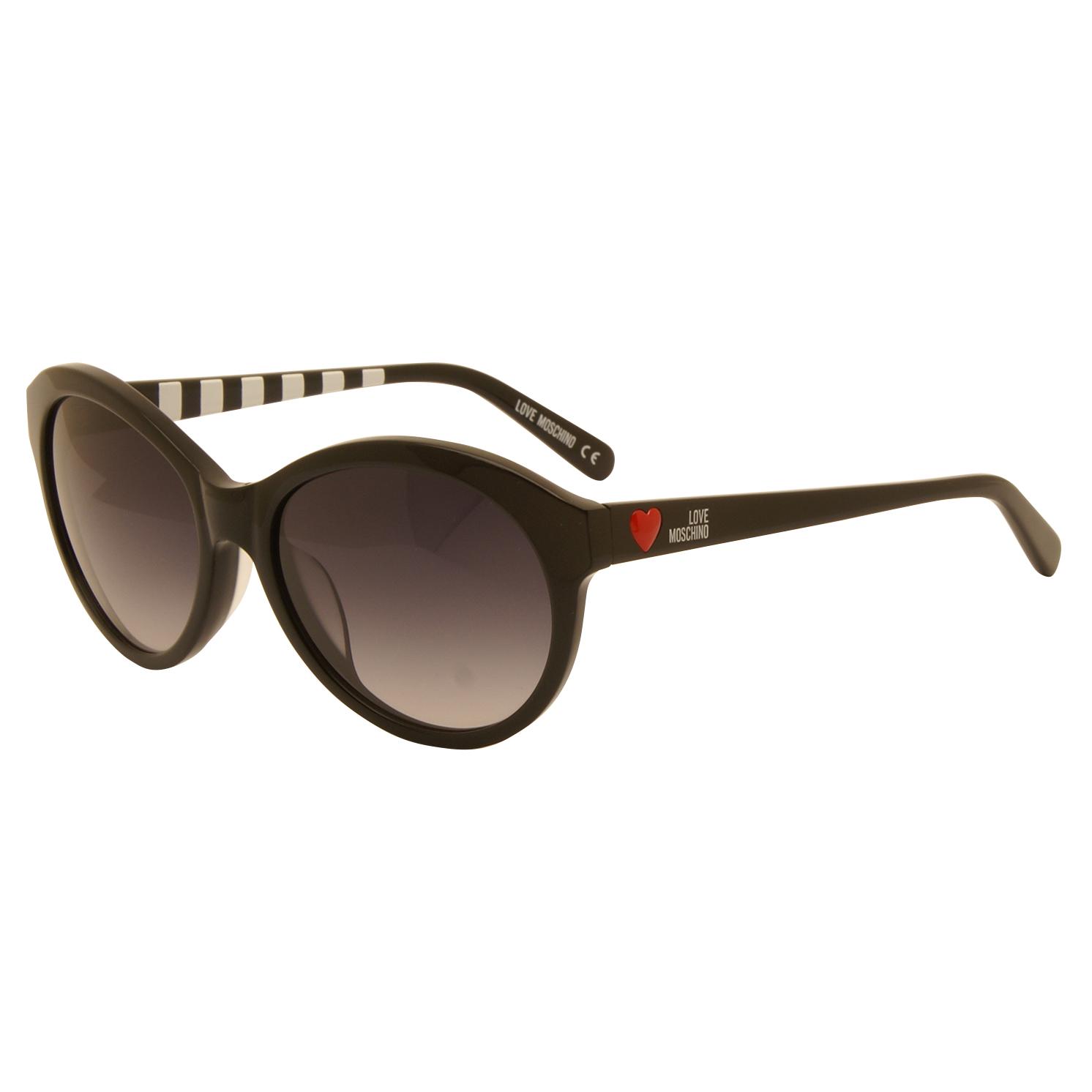13e8bd50a11 Love Moschino - Shiny Black Classic Style Sunglasses with Case - YaYa21