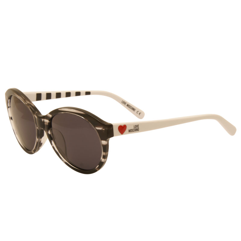 Love Moschino – Black & White Tortoiseshell Classic Style Sunglasses with Case