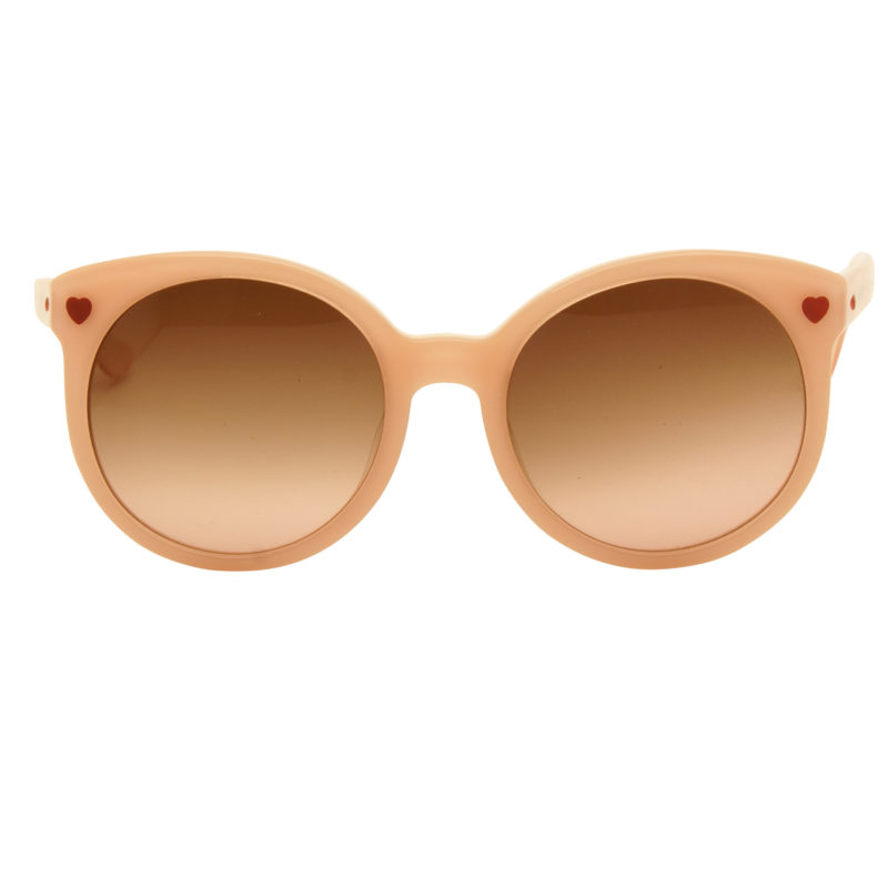 Love Moschino – Pink Round Oversized Style Sunglasses with Case