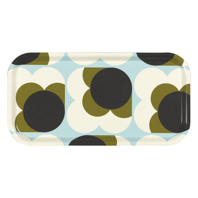 Orla Kiely – Duck Egg Blue Big Spot Shadow Flower Birch Veneer Tea Tray