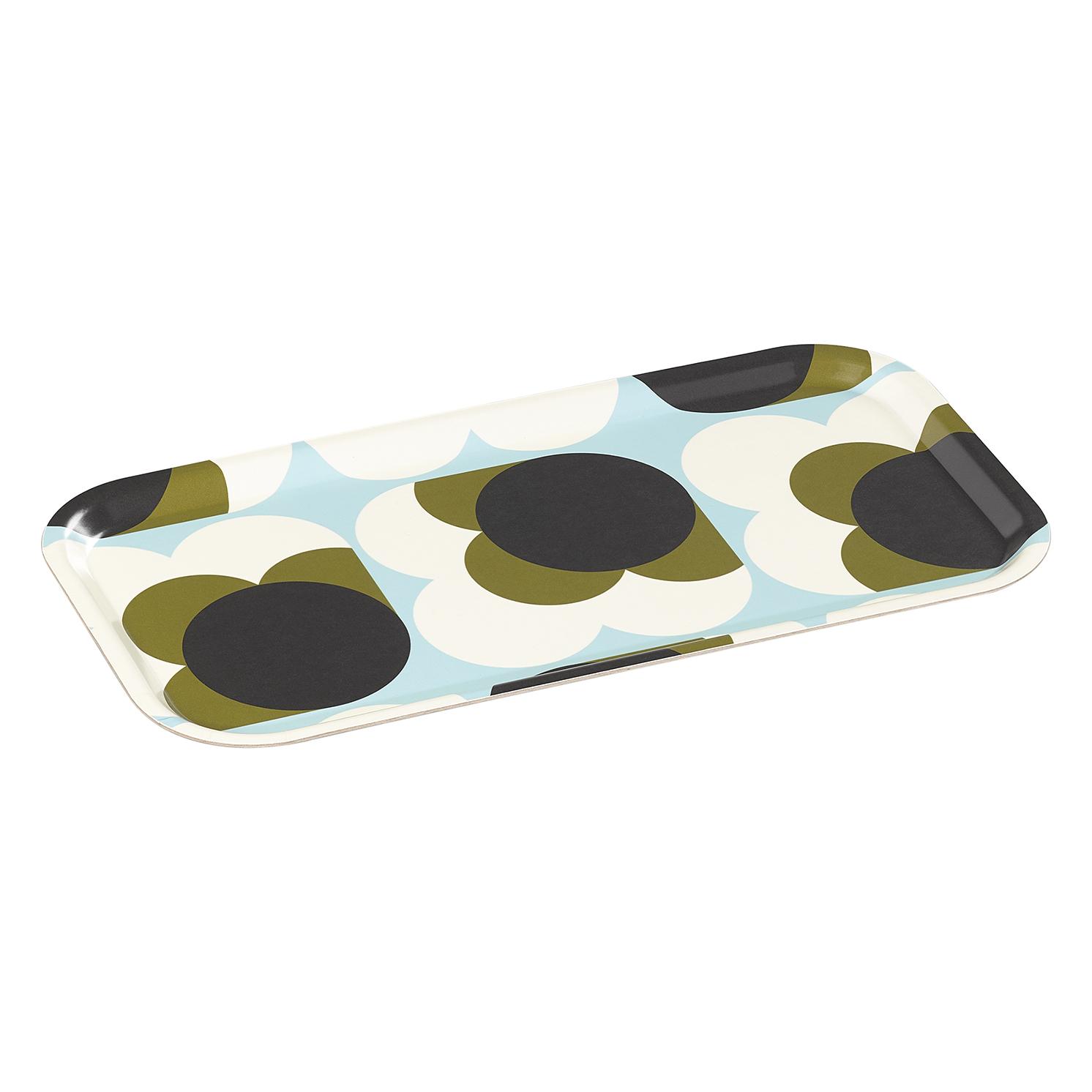 Orla Kiely – Duck Egg Blue Big Spot Shadow Flower Birch Veneer Tea Tray