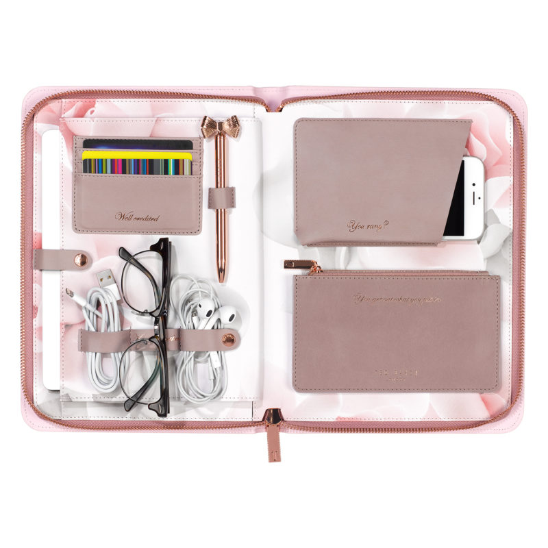 Ted Baker – Pink Thistle Lifestyle Travel Organiser in Presentation Gift Box