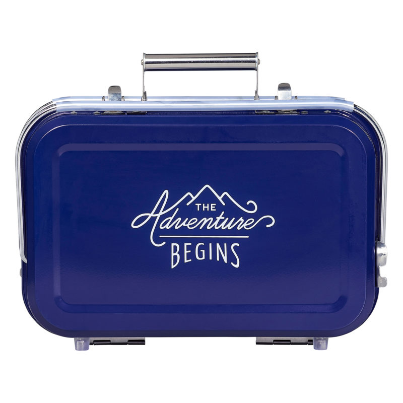 Gentlemen's Hardware – Blue Suitcase Style Portable Barbecue in Presentation Box