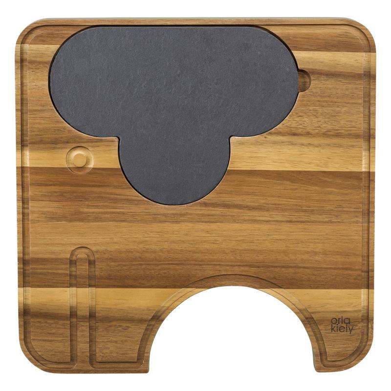 Orla Kiely – Ela Elephant Wooden Cheese Board Set in Kraft Gift Box