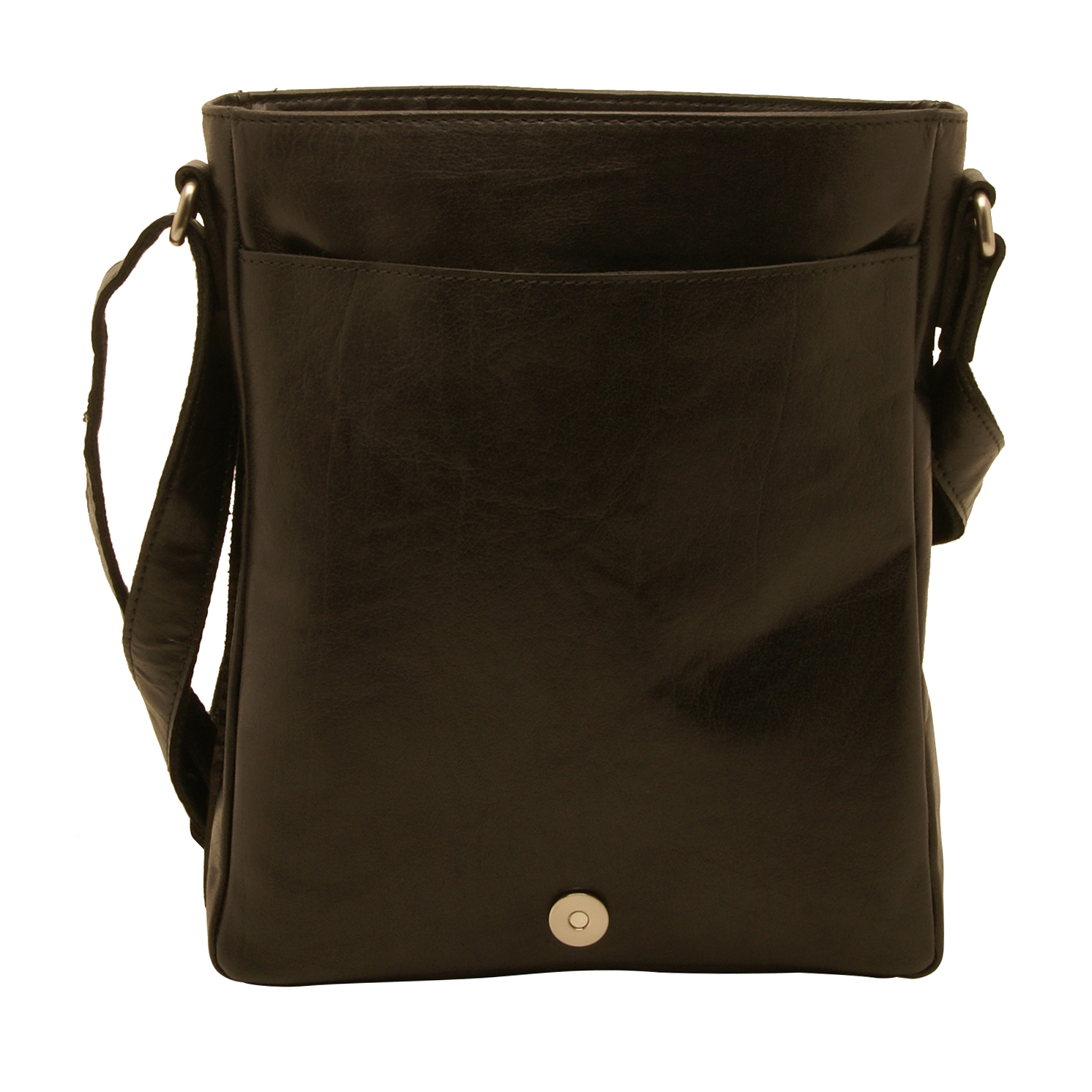 Rowallan – Black North/South Conquest Messenger Bag in Pull Up Cowhide Leather