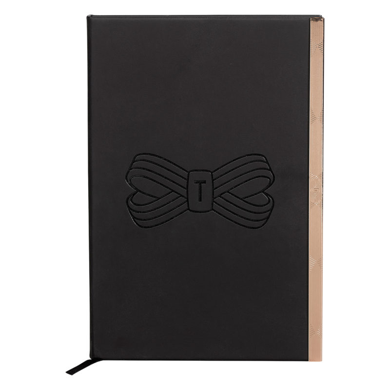Ted Baker – Black A5 Soft Touch Notebook with Rose Gold Trim
