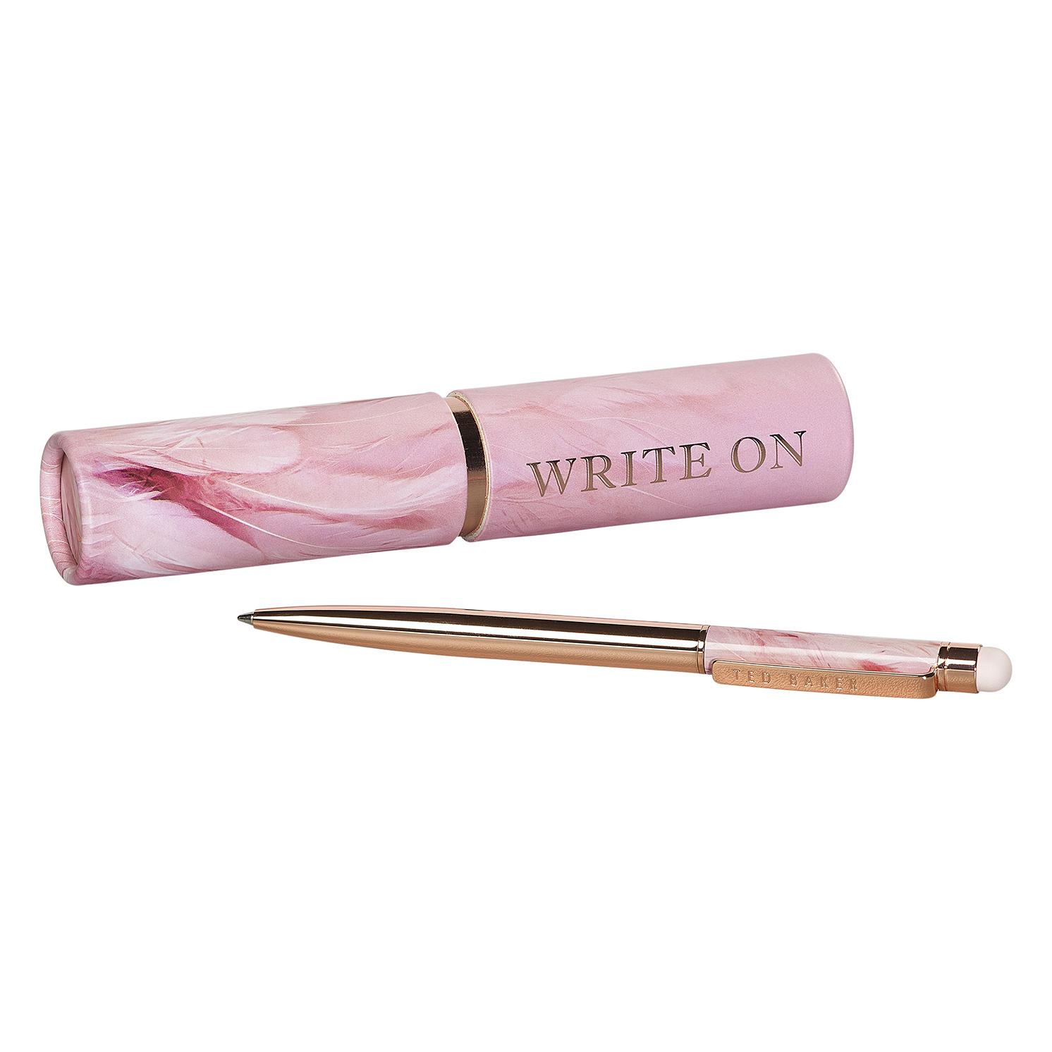 Ted Baker – Pink Angel Falls Touchscreen Pen in Matching Pink Tubular Box