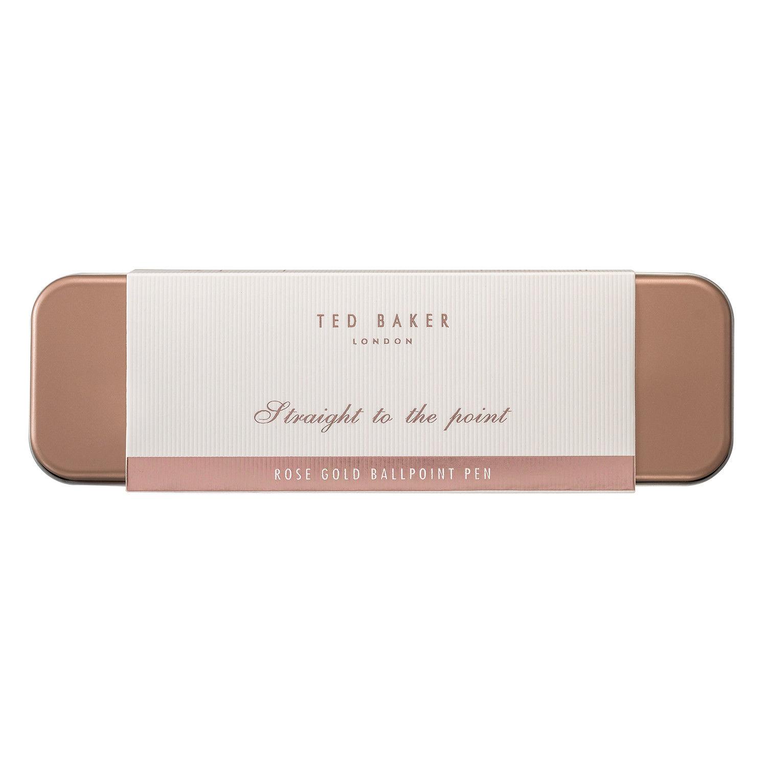 Ted Baker – Rose Gold Premium Ballpoint Pen in Presentation Metal Gift Tin