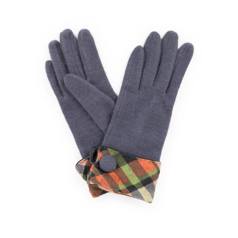 Powder – Charcoal Grey Heather Wool Gloves with Powder Presentation Gift Bag