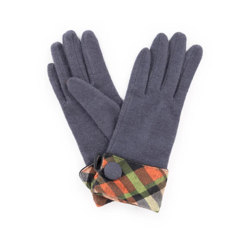 Powder – Charcoal Grey Heather Wool Gloves with Powder Presentation Gift Bag