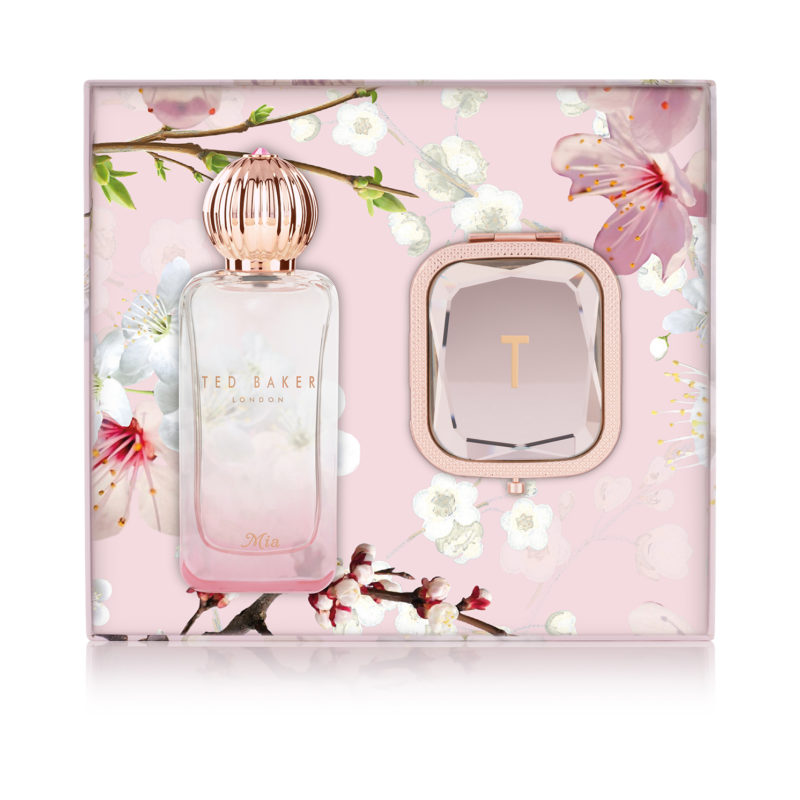 Ted Baker – Pink Mia 50ml Sweet Treat Fragrance and Mirror Boxed Gift Set