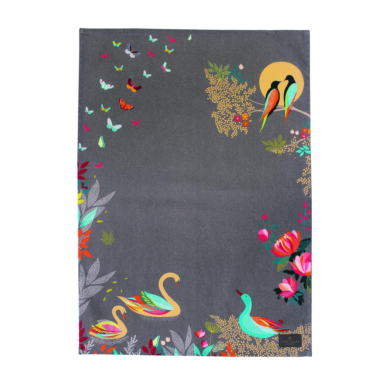 Sara Miller – Swan Tea Towel in Presentation Gift Box