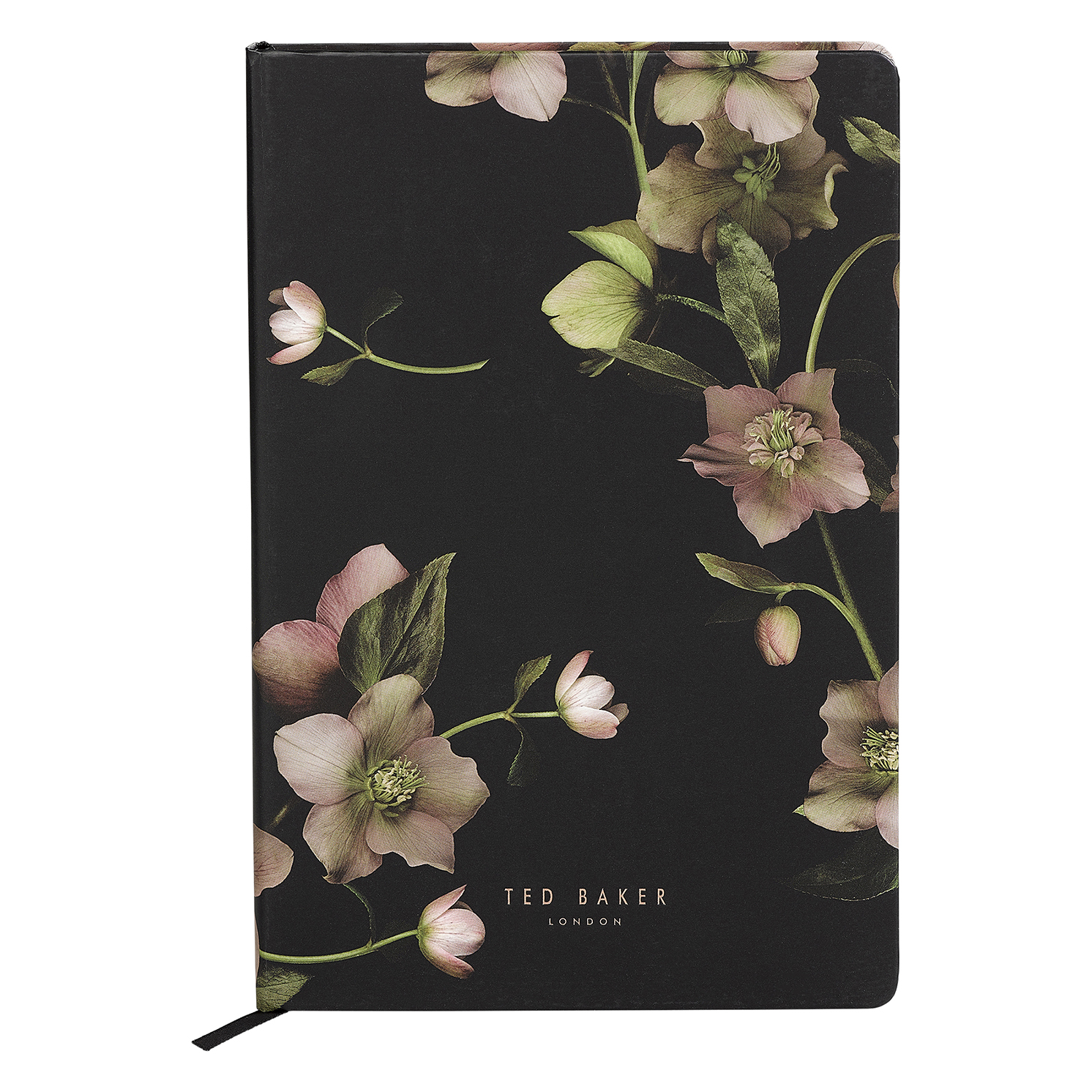 Ted Baker – Black Arboretum A5 Notebook with Rose Gold Trim