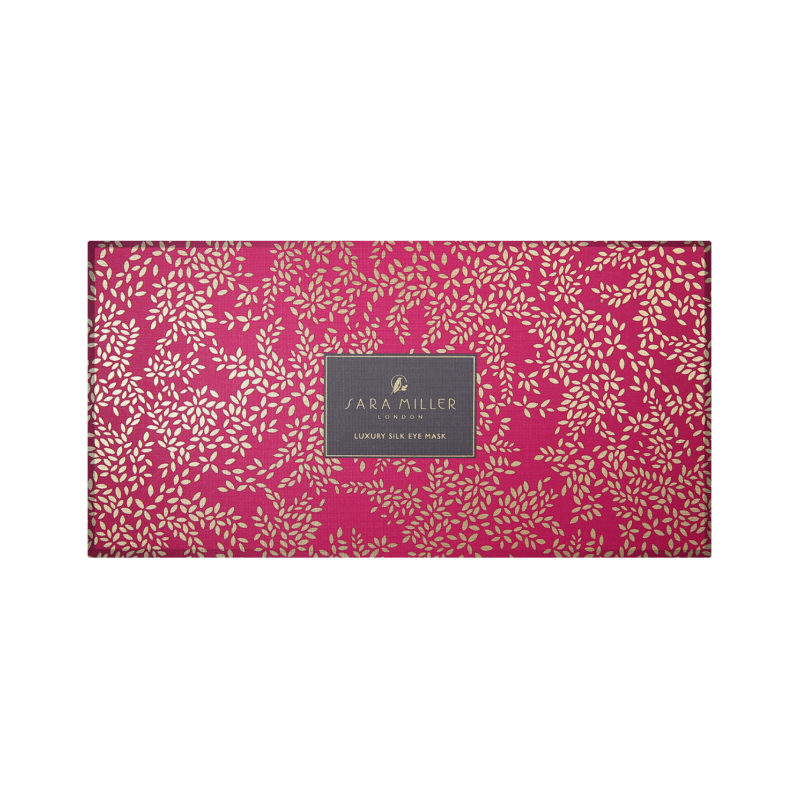 Sara Miller – Pink Flamingo Silk Eye Mask in Presentation Box