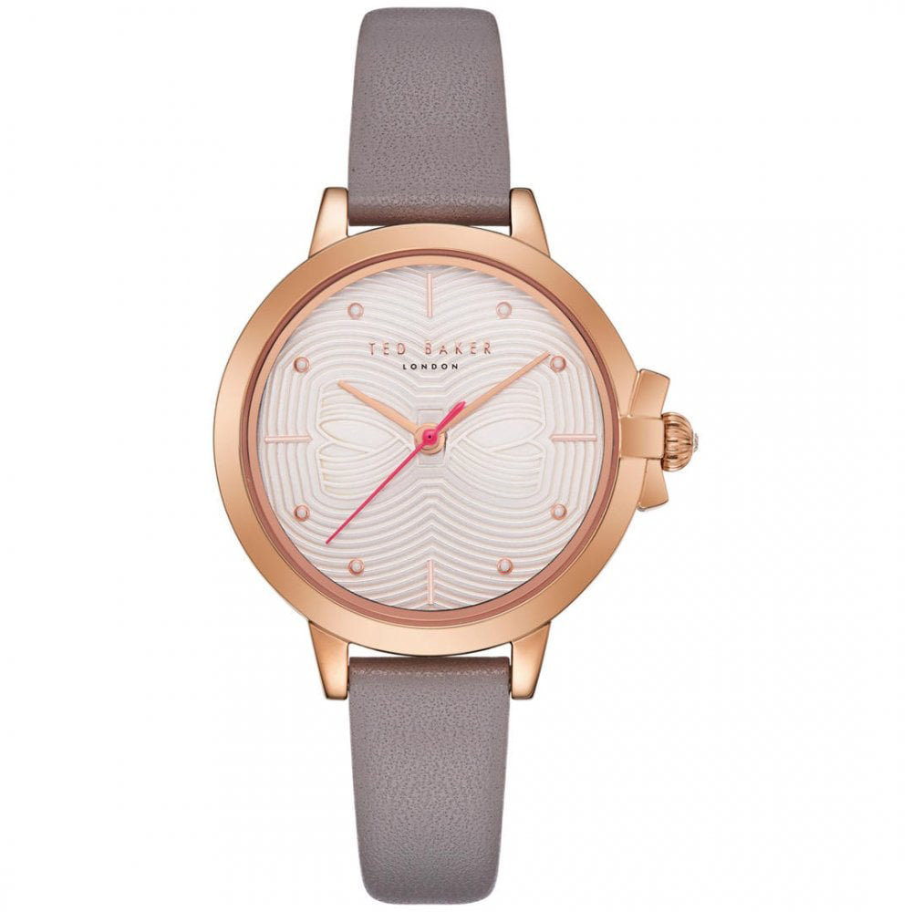 Ted Baker – BETH Grey Leather Strap Watch in Presentation Gift Box