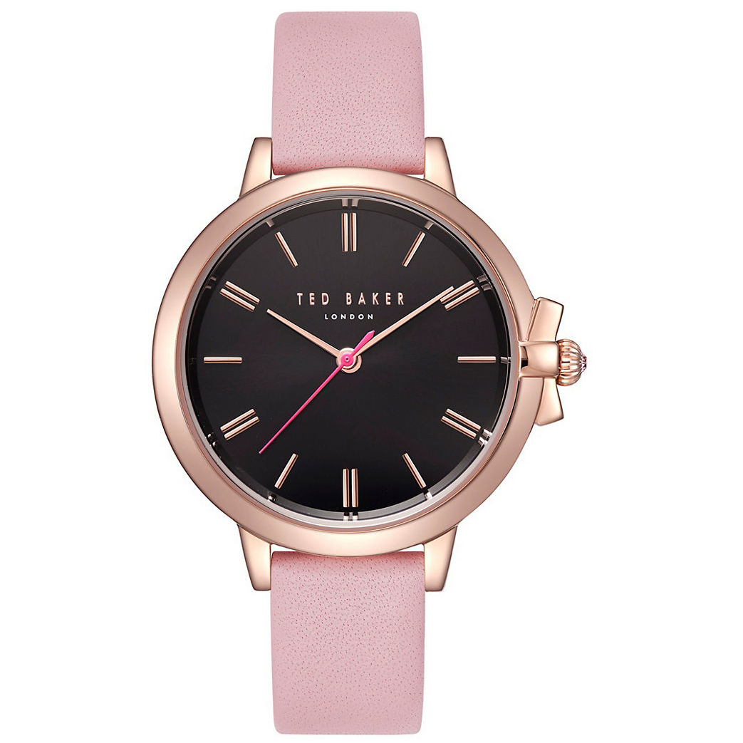Ted Baker – RUTH Pink Leather Strap Watch in Presentation Gift Box