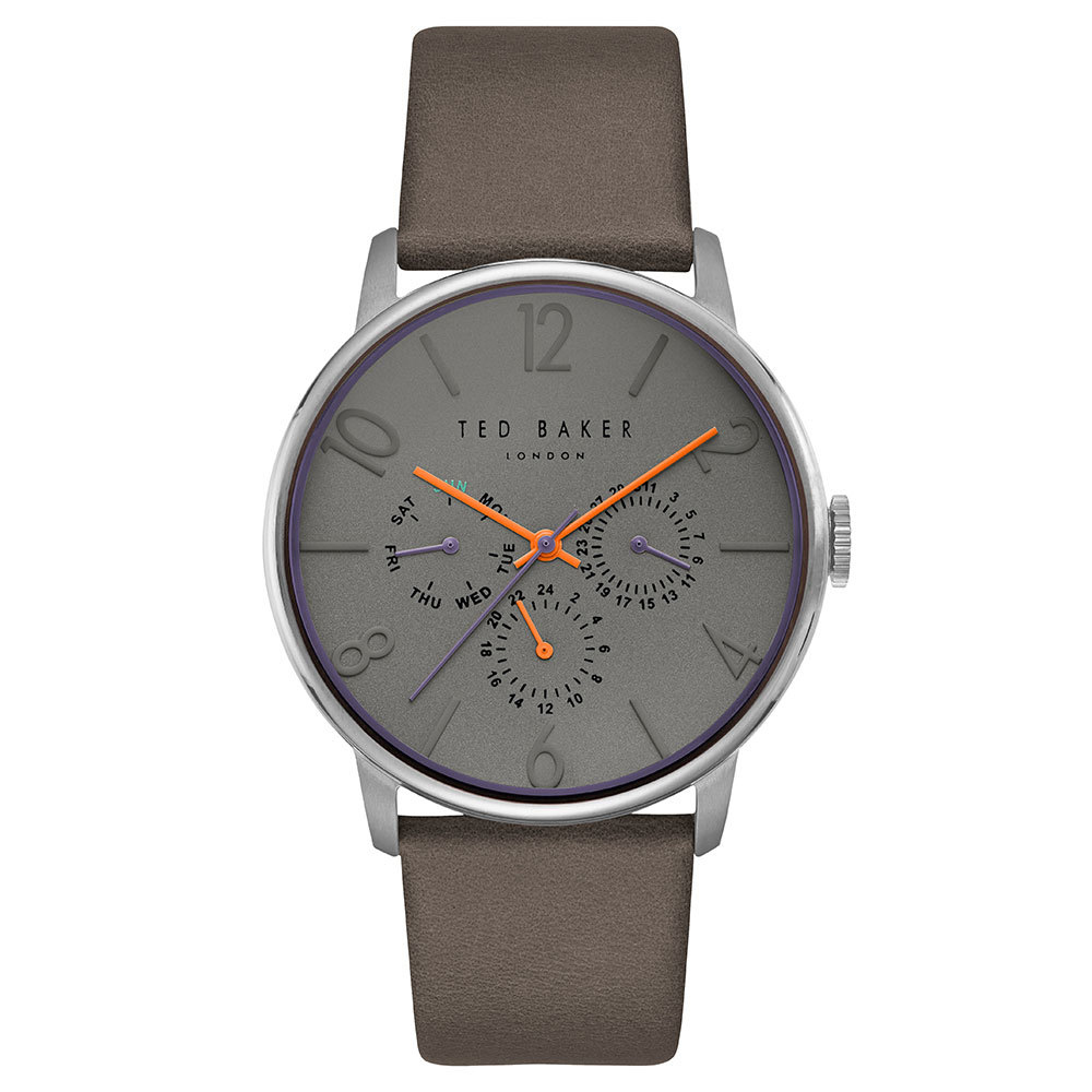 Ted Baker – JAMES Brown Leather Strap Watch in Presentation Gift Box