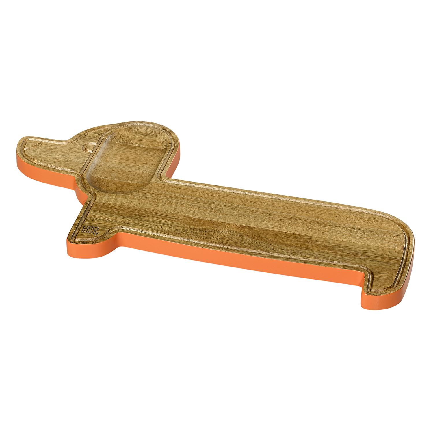 Orla Kiely – Wooden Dachshund Persimmon Serving Board