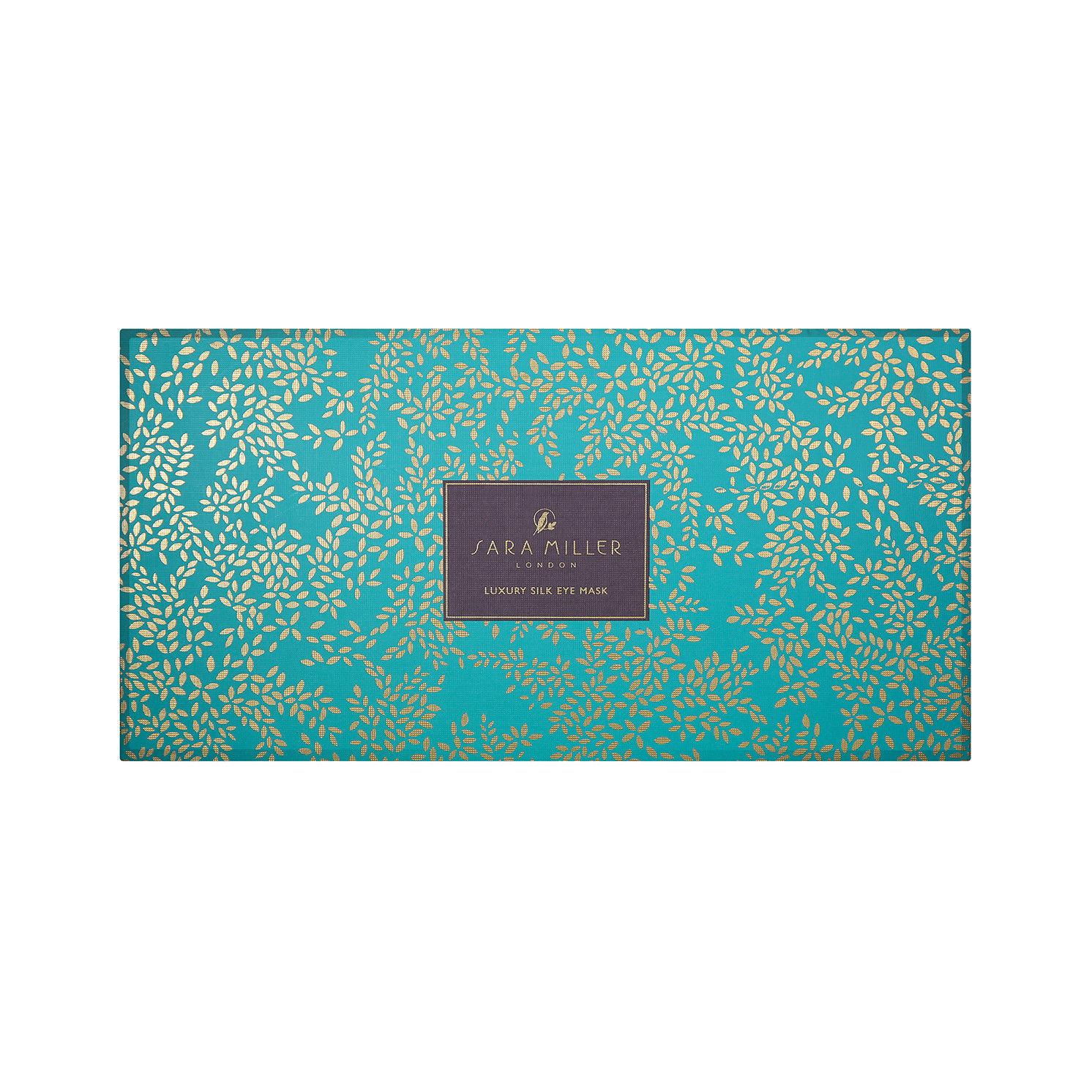 Sara Miller – Green Toucan Silk Eye Mask in Presentation Gift Box