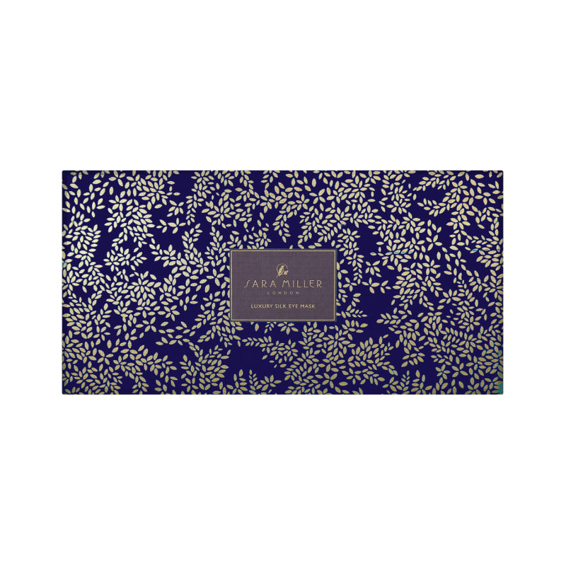 Sara Miller – Blue Parrot Silk Eye Mask in Presentation Gift Box