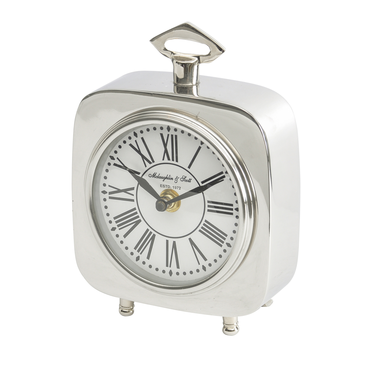Libra – Austin Square Silver Nickel Carriage Clock
