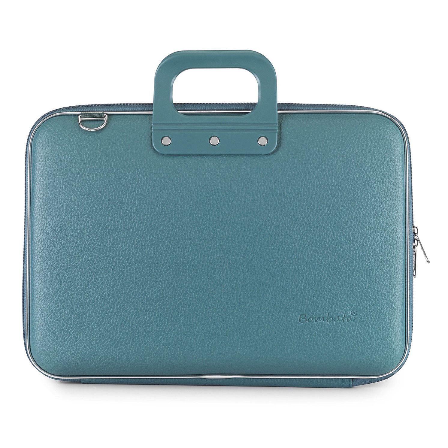 Bombata – Teal Blue Classic 15″ Laptop Case/Bag with Matching Shoulder Strap