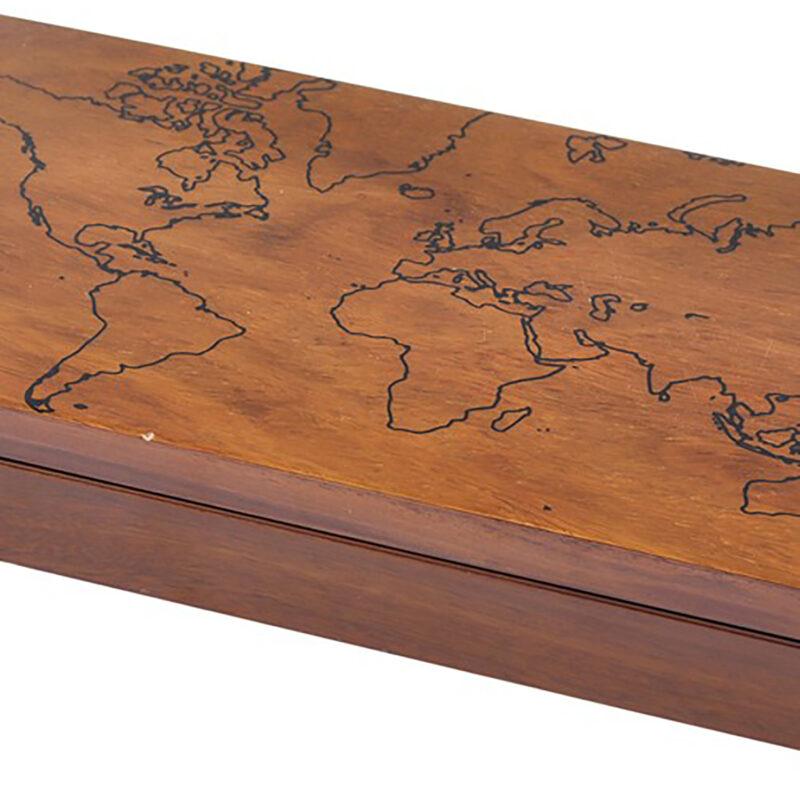 Libra – Burnham World Map Trinket Box in Sheesham Wood