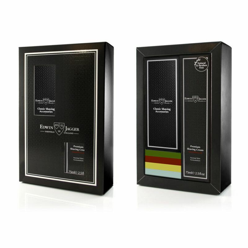 Edwin Jagger – Black DE86 Razor & Sandalwood Shaving Cream Boxed Gift Set