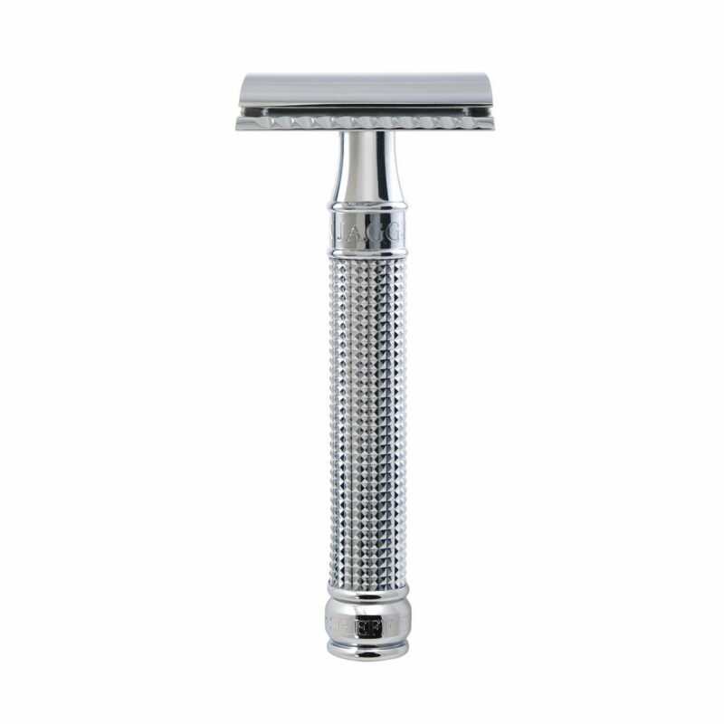 Edwin Jagger – Chrome 3D Laser Diamond DE Safety Razor with Blade in Gift Box