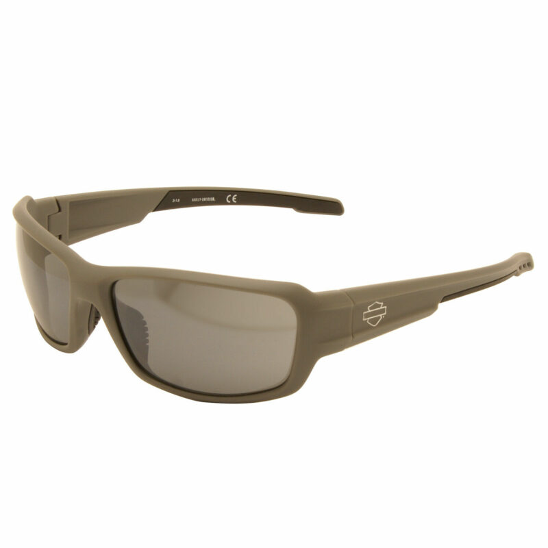 Harley Davidson – Matt Grey Wraparound Style Sunglasses with Case