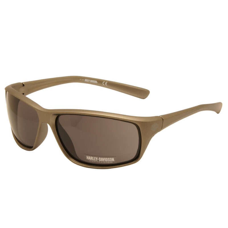 Harley Davidson – Satin Grey Wraparound Style Sunglasses with Case