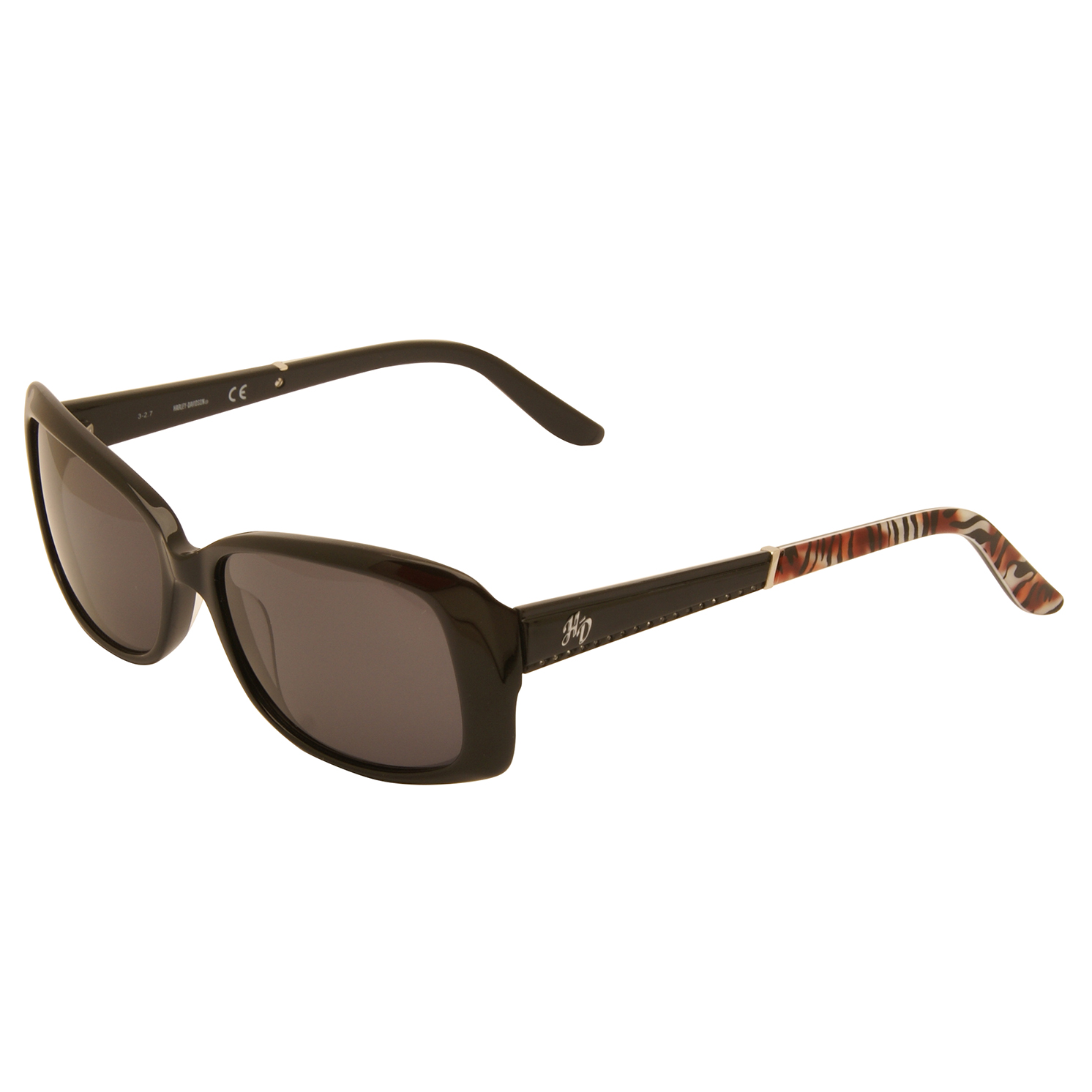 Harley Davidson – Black with Diamante Stones Classic Style Sunglasses with Case